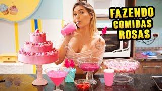 FAZENDO COMIDAS ROSAS!!!!!