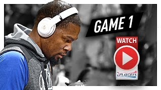 Kevin Durant Full Game 1 Highlights vs Trail Blazers 2017 Playoffs - 32 Pts, 10 Reb, SICK!