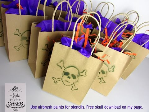 Create customised party bags with easy DIY stencil and airbrush hack