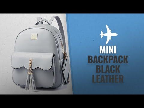 top-10-mini-backpack-black-leather-[2018]:-dwe-pu-leather-women-backpack,black-small-school-bag