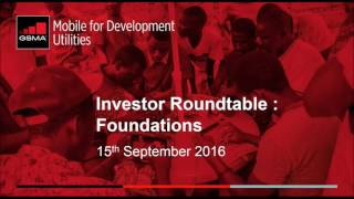 Investor Roundtable  -Foundations  Webinar