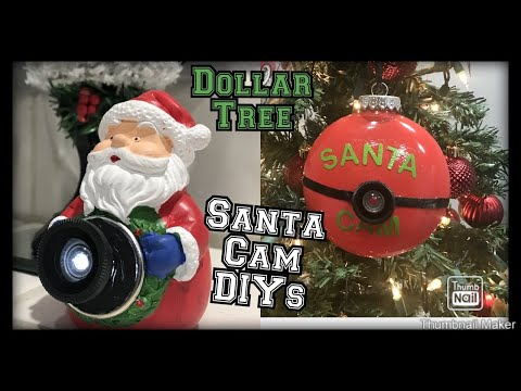 Dollar tree Santa cam diy / dollar tree Santa cam ideas / perfect for Christmas 🎄 🎅 📷