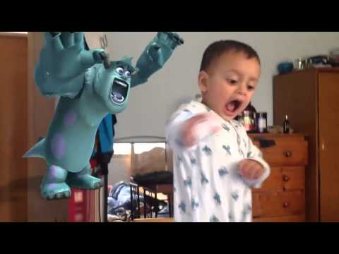 Sulli From Monsters Inc. Scares Baby