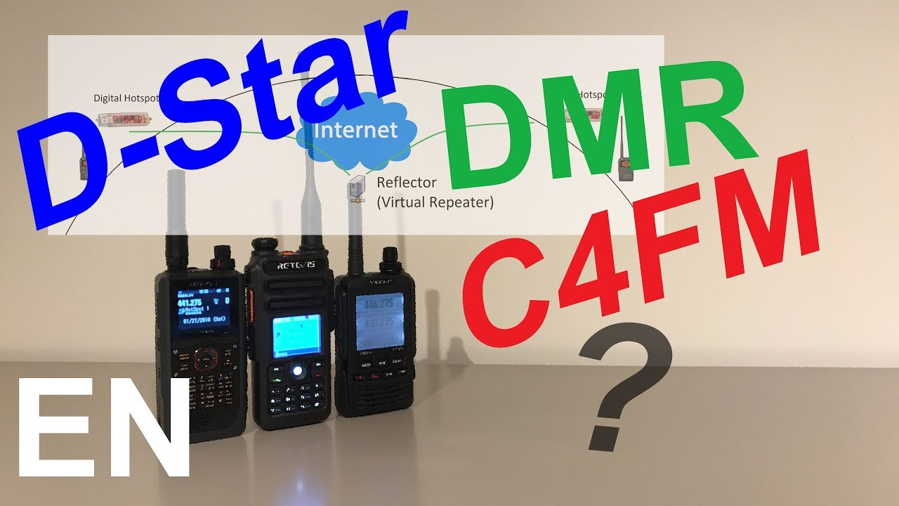 D-Star, DMR, C4FM, explained with their different reflectors