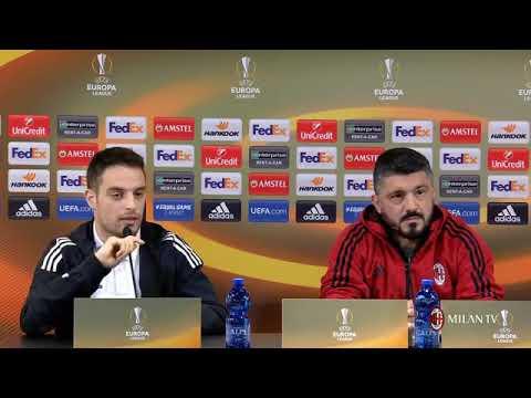 Gattuso conferenza pre Milan - Arsenal [Europa League] 07.03.2018