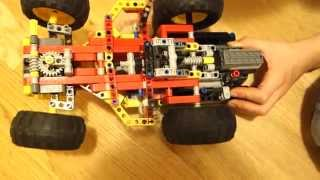 Lawn mower - my own Lego Technic creation (8 years)