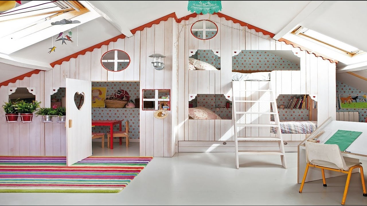 Adorable Indoor Playhouse for Children - Room Ideas - YouTube