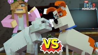 CATS VS DOGS | THE WAR HAS BEGUN! | Minecraft Secret Life Of Pets | Little Kelly
