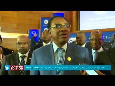 La SADC pour la publication du Calendrier Électoral par la CENI, Bruno TSHIBALA