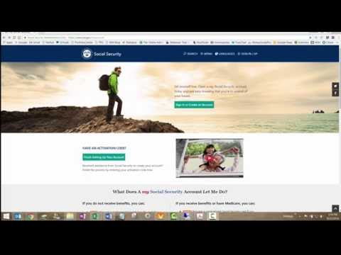 My Social Security Website Account Set Up
