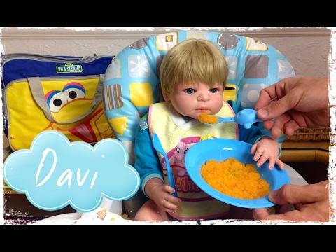Bebê Reborn Davi Rotina Hora do Papá! Peter Toys