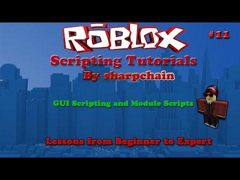 Roblox Scripting tutorials #11 GUI Scripting and Module