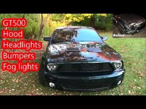 Crashed My Bullitt Mustang; GT500 Nose Swap
