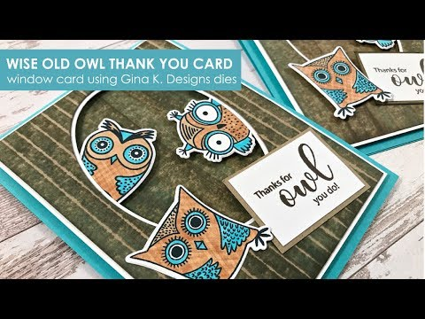 Wise Old Owl Thank You Card