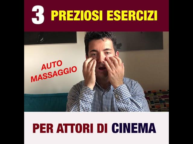 3 esercizi preziosi per ATTORI di CINEMA