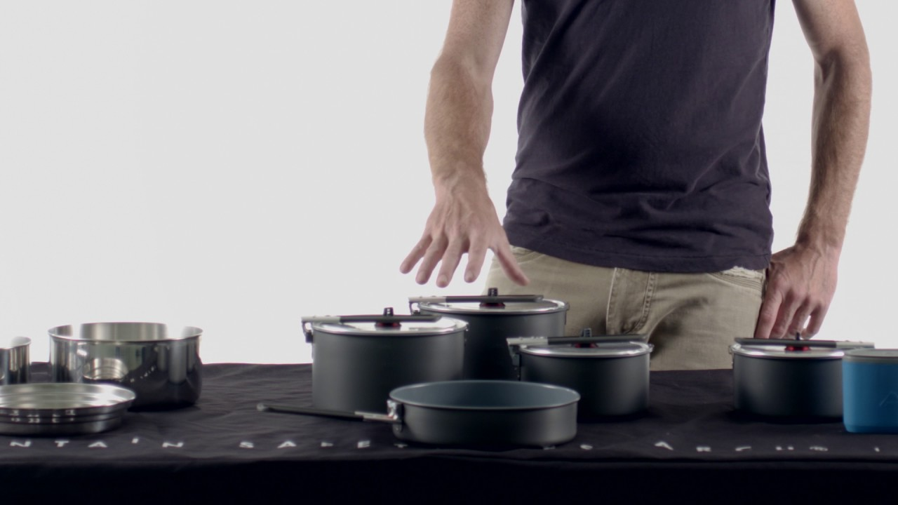 GSI Acier Inoxydable Set Dualist set camping Cookset Cookware Casserole Pot