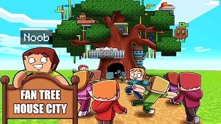 200 Fans Build a Tree House City in Minecraft
