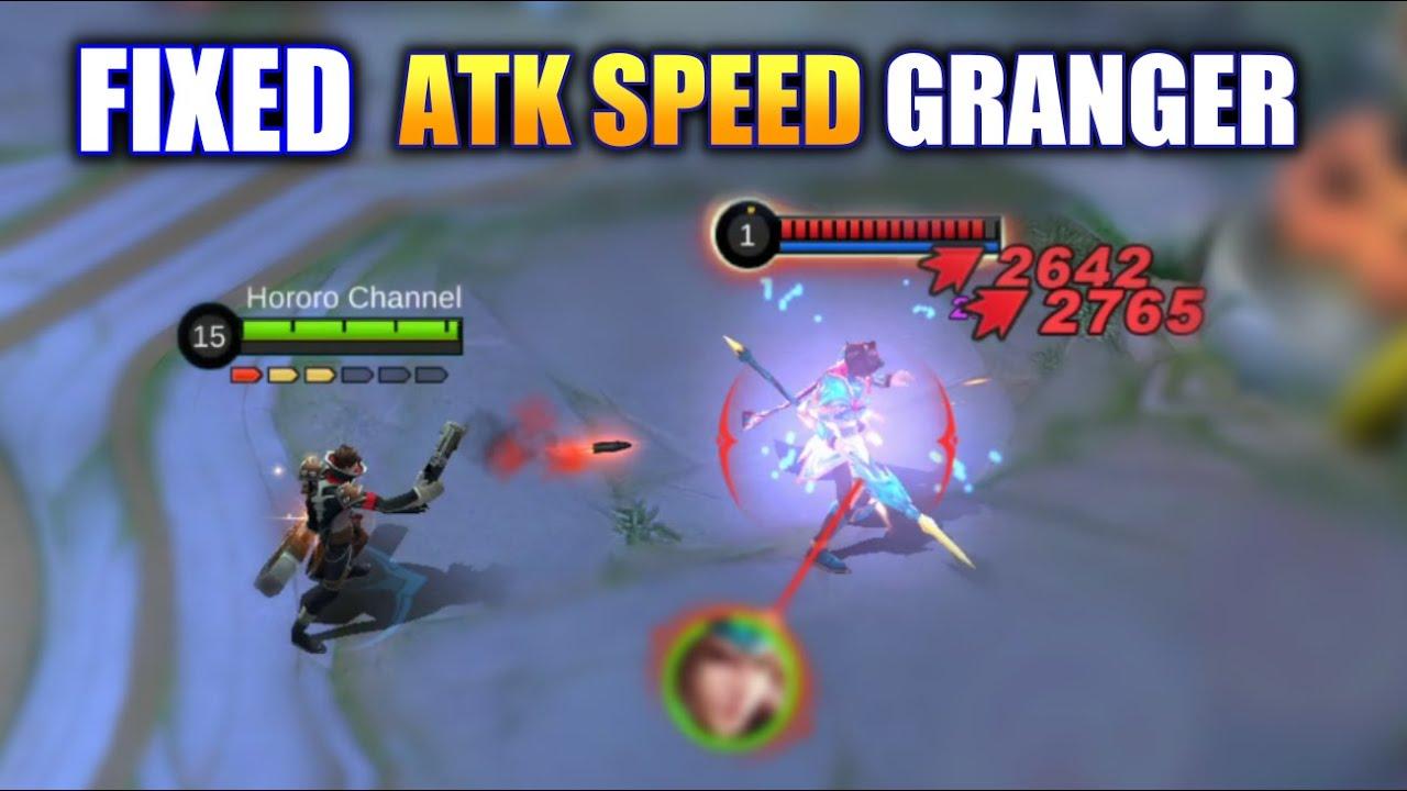 FIXED ATTACK SPEED GRANGER TEST | MOBILE LEGENDS