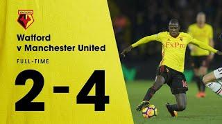 Watford vs Manchester united 2-4 Highlights EPL 2017