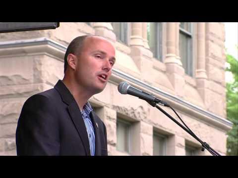 Lt. Gov Spencer Cox speaks at Orlando Shooting vigil in Utah