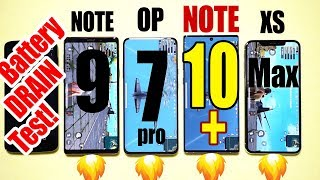 GALAXY NOTE 10+ Plus vs OnePlus 7 PRO vs iPhone XS MAX Battery Drain Speed Test! 🔥POWER KING🔥