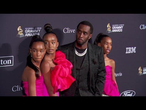 Diddy Makes The Clive Davis Carpet A Family Affair