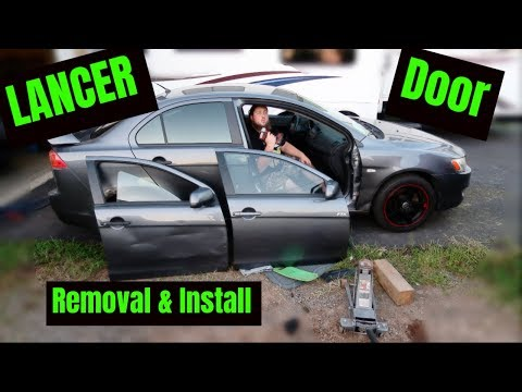 Mitsubishi Lancer Door removal Replace and Install because this happened.