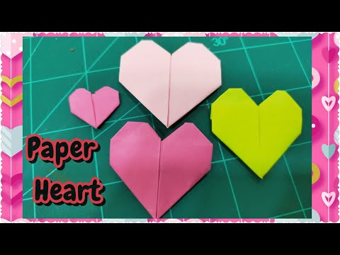 How to make 3d origami Heart ( small ) - YouTube | 360x480