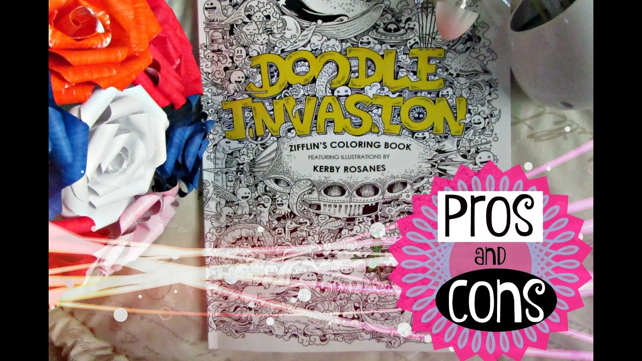 Doodle Invasion Coloring Book Review : Doodle Invasion Coloring book REVIEW!!!! YouTube