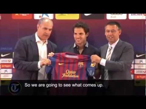 Cesc Fabregas Signs for Barcelona: Exclusive Interview 15/08/2011