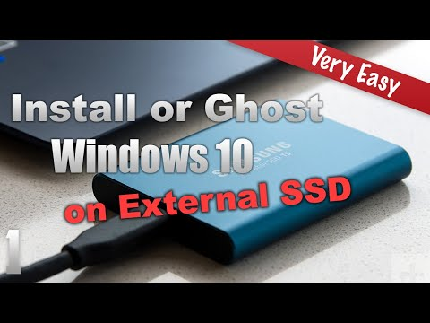 Install Windows on External SSD Disk Drive or Ghost Windows to External SSD  and Speed Test