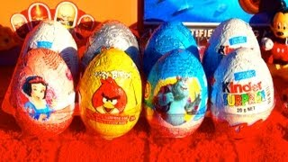 8 Kinder Surprise Eggs TOY STORY Mo...