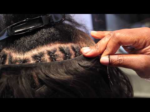 Eleventh Hour Salon(Chicago,IL): Sew-In Hair Extensions *Sped Up Installation Video*