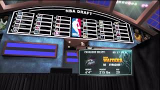 NBA 2K13 MY Player #1 Draft pick