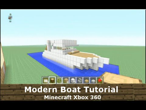 Modern boat tutorial minecraft xbox 360 youtube for Tuto maison moderne minecraft xbox 360