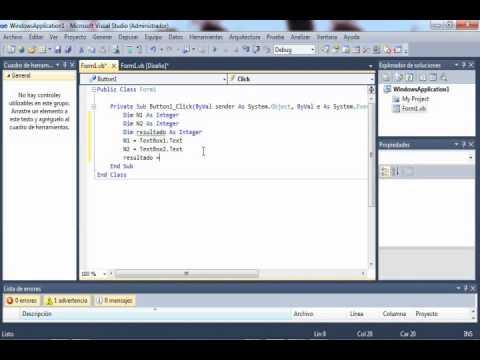 tutorial sumador visual basicnet - Tabla Periodica En Visual Basic