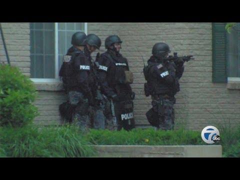 Police situation in Novi