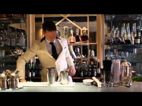 Savoy's American Bar bartender Tom Walker demos his Maid in Cuba cocktail