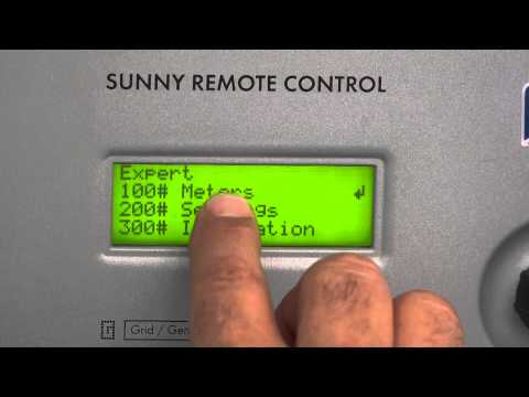 SMA SUNNY ISLAND INVERTER SET UP VIDEO