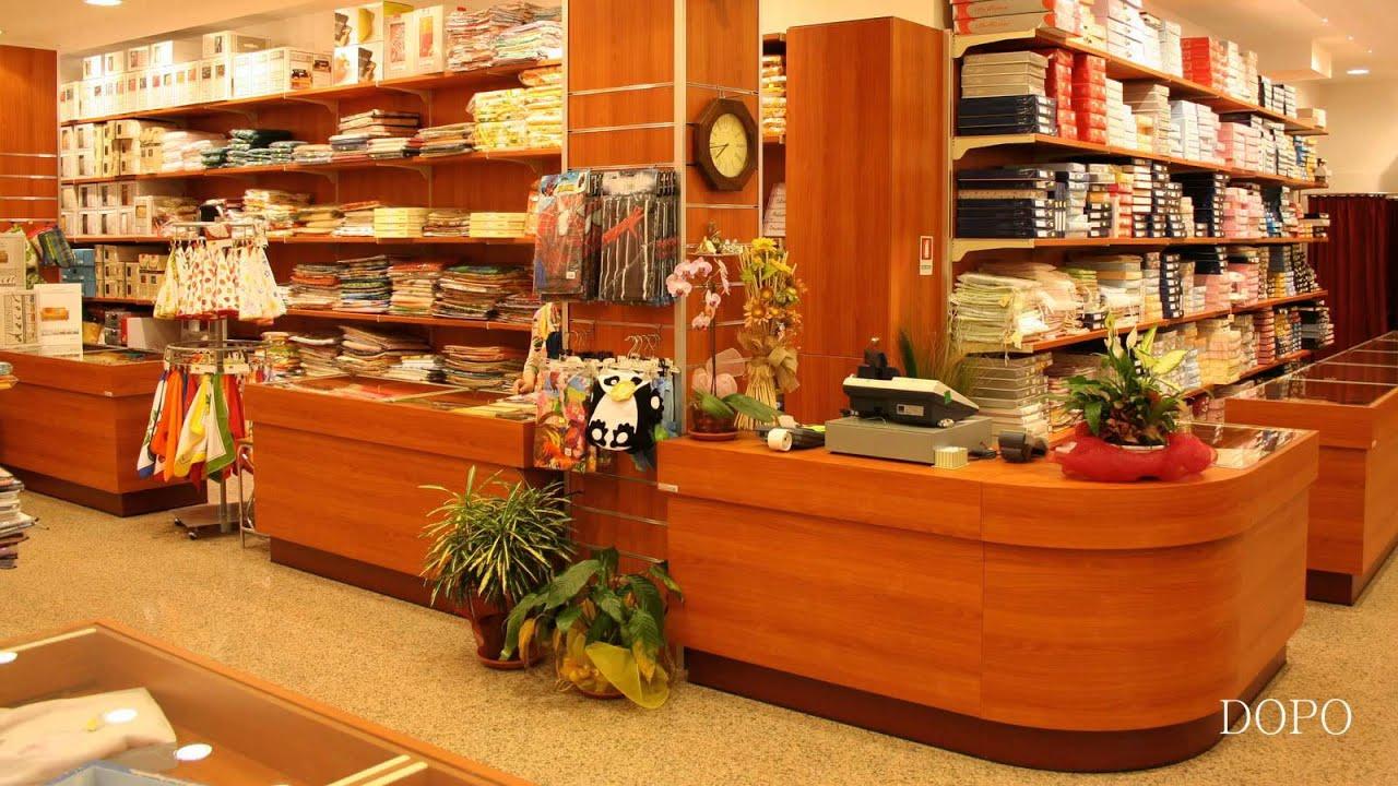 Arredamento negozio biancheria per la casa intimo_Ekip arredamenti per negozi Roma V6  YouTube