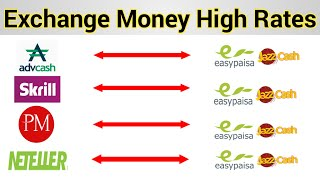 Exchange Money in Pakistan Secure and Save Method Paypal to Easy Paisa/ Perfect Money to Jazz Cash
