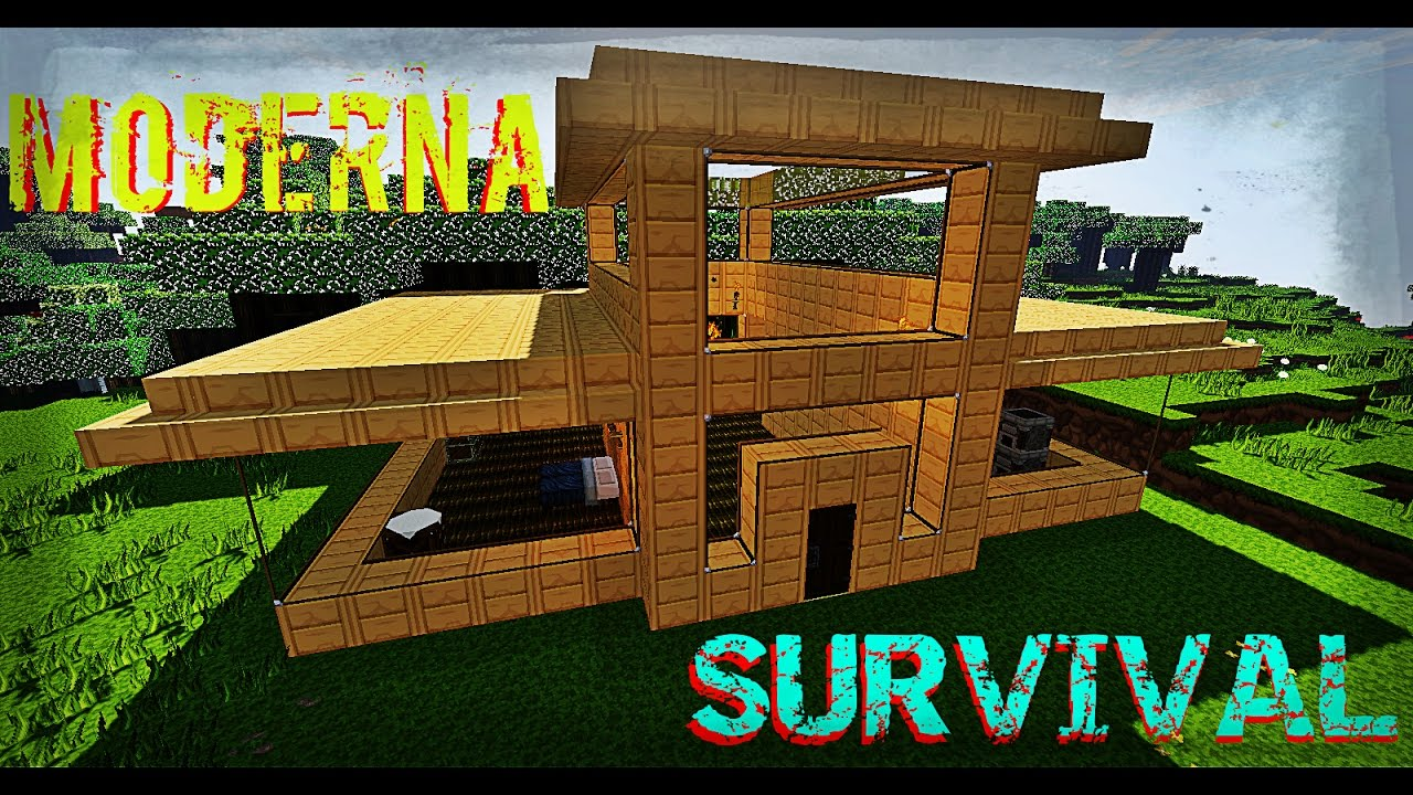 Minecraft moderna para survival descarga for Casa moderna survival minecraft