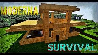 minecraft casa survival para moderna