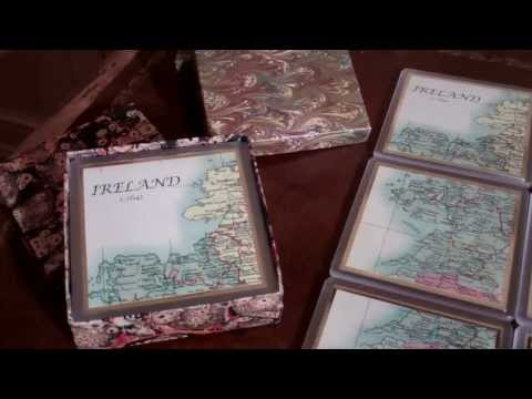 Ever Irish Gifts Map of Ireland Paperweight and Coasters