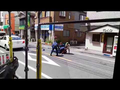 「撃て!撃て!」警察官とクロネコヤマト従業員が刃物男を捕獲