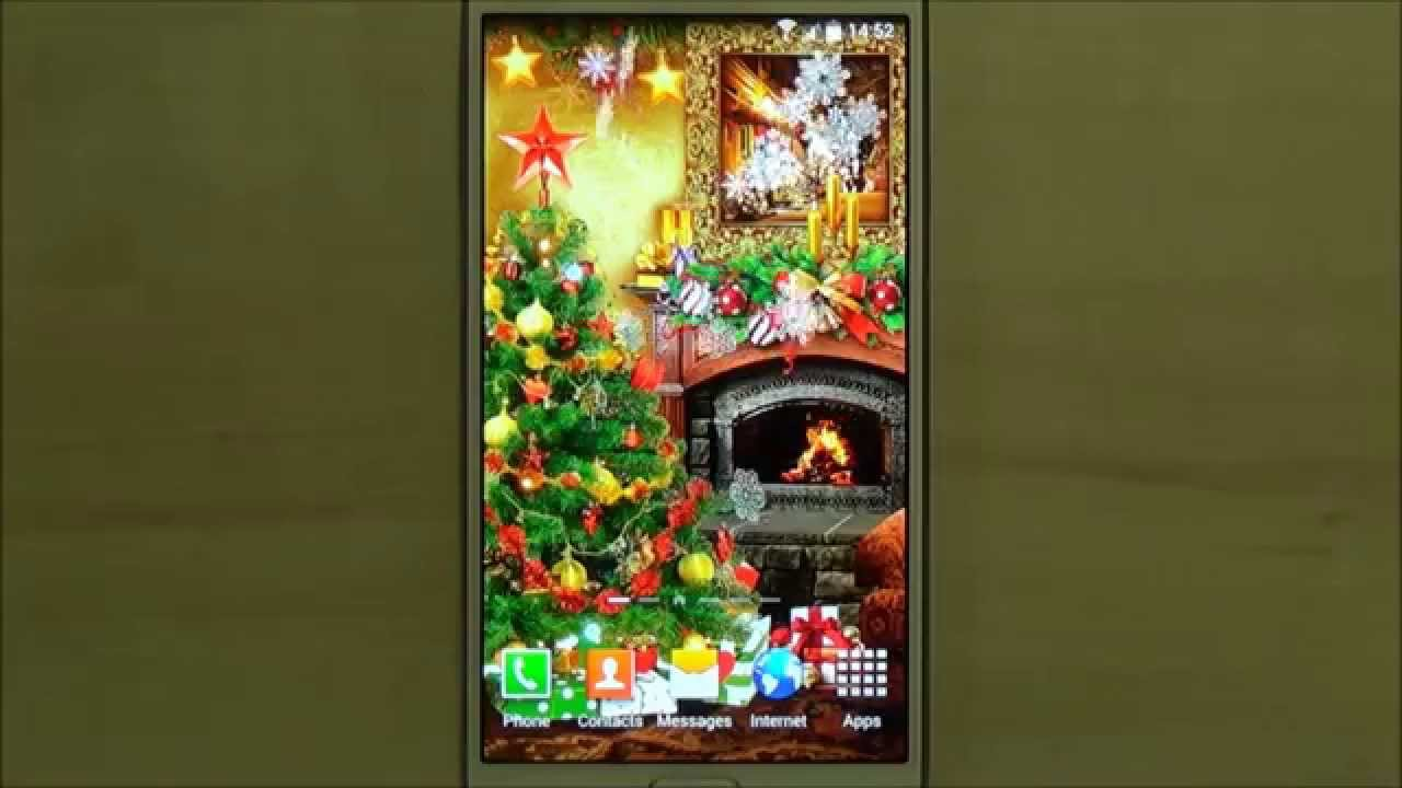 beautiful free christmas live wallpaper for android phones and tablets youtube