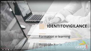 Formation Identitovigilance en e-learning