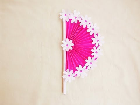 DIY Paper craft | How to make Hand Fan with paper