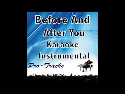 Before and After You karaoke instrumental  Bridges Of Madison County