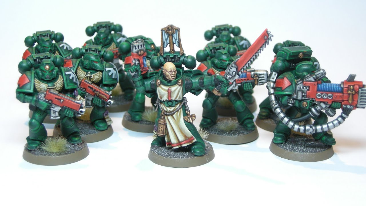 How to Paint Dark Angels Tactical Squad - YouTube